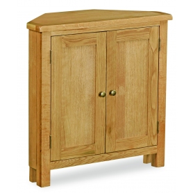 Suffolk Rustic Oak Low Corner Cupboard